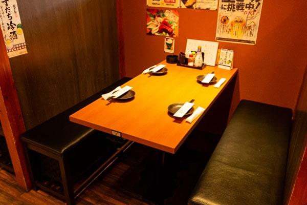 広々ゆったりテーブル席